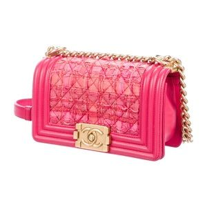 CHANEL Bags - Chanel small tweed pink boy bag